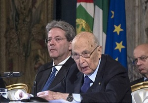 Napolitano dimissioni mandato